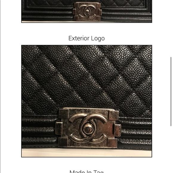 CHANEL Handbags - Le boy medium rh caviar black